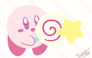 [HnK] Pastel Kirby to spread love and happiness by K-AMB