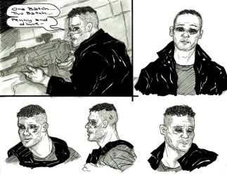 Daredevil S2 Punisher Sketches by NOTEBLUE13