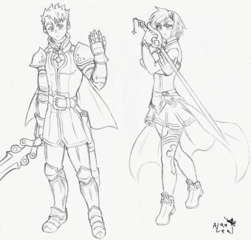Talin and Brooke knights by NegaPol