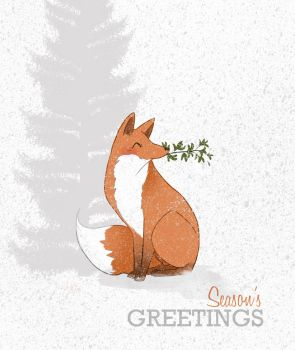 Foxymas by lizleeillustration
