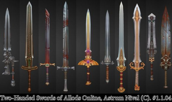 Two-Handed Swords - Allods by janesthlm