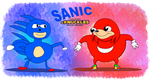Sanic and Ugandan Knuckles (ORIGINALLY MADE BY ME) by iPodCoolest