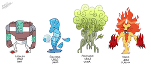Fakemon Brainstorm #3 The Delta Beasts by EventHorizontal