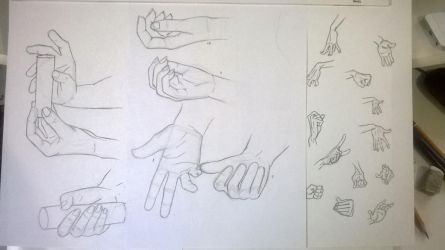 Hands Study 2 - Drawing and Stylizing by BronyHands