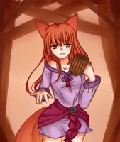 Holo the Wise Wolf by Tea-ru