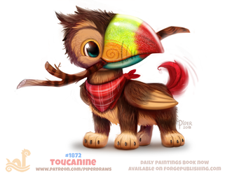 Daily Paint 1872# Toucanine by Cryptid-Creations
