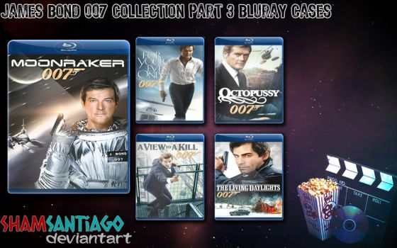 James Bond 007 Collection Part 3 Bluray Cases by ShamSantiago
