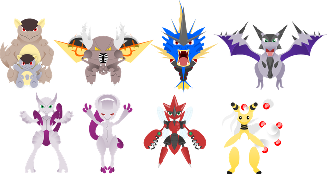 Moar Mega Pokemon by lordbatsy