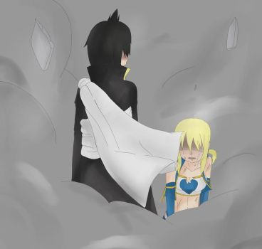 Zeref and Lucy by LavixKite