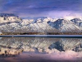West Orem and Mountains Reflec by houstonryan