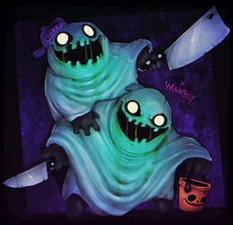 BOOGLY KNIVES by WORMBOYx