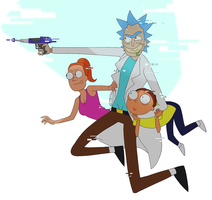 Rick and Morty and Summer by Ihlosih