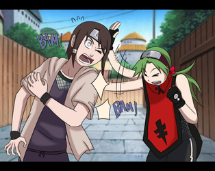 Collab with Isadamu: Back pats by Baztey