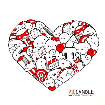 Heart Doodle by PicCandle