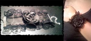 Black Lace Corsage by Mellowed-Mushroom