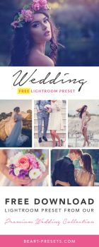FREE WEDDING LIGHTROOM PRESET by beart-presets