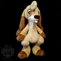 Cinnamon Bunny Dog Plushie by AppleDew