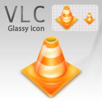 VLC, glassy icon by Chozo-MJ