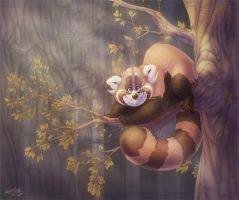 Rollo in the trees by Fakelore