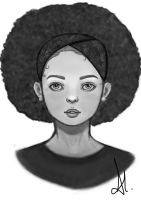 Afro girl by Lucenes