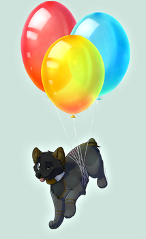Commission| Balloons by LaivaWolf