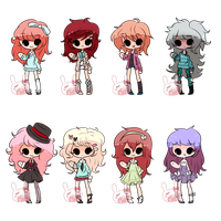 Casual Girls Adopts by PastelBits