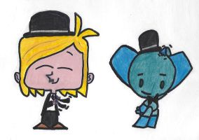 Robotboy and Tommy as Laurel and Hardy by octaafdebolle