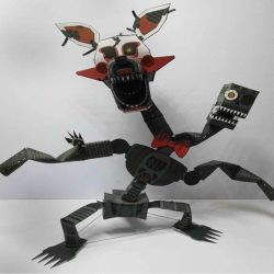Nightmare Mangle Papercraft by jackobonnie1983
