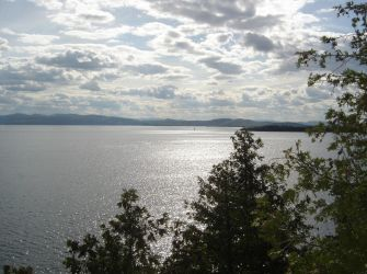 Overlooking Lake Champlain from a Cedar Bluff by Forest-Imp