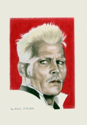 Johnny Depp - Grindelwald by shaman-art
