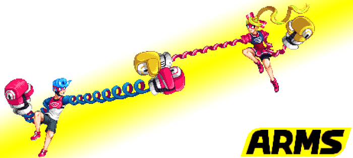 ARMS Spring vs Ribbon by Pixelated-Dude