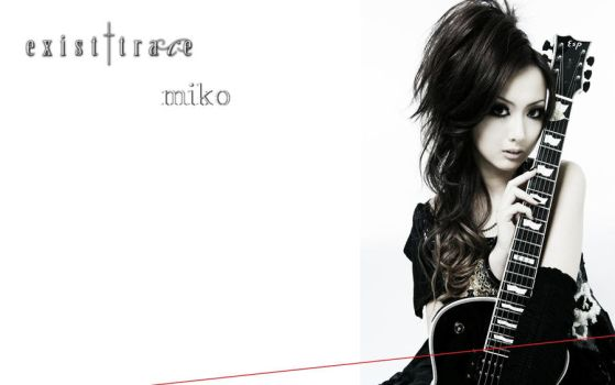 existtrace miko wallpaper by Leviathan-Dirge