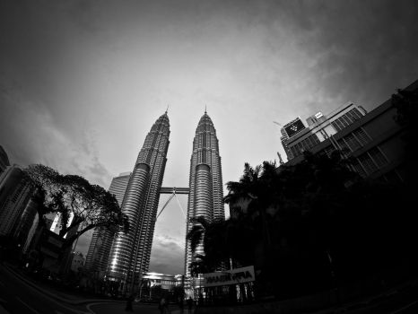 The Petronas Twin Towers by Devilicious-G