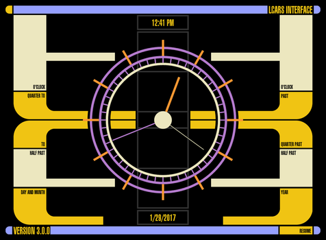 LCARS for Rainmeter Clock by Jefson