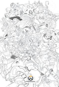 Overwatch Ultimate - Lineart by Nesskain