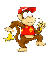 FSF 2014 Collab: Diddy Kong by BoxBird