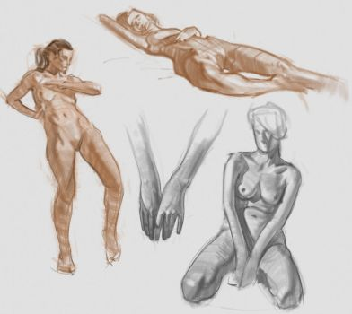 Figure Sketches by kristmiha