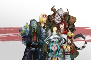 Guild Wars 2 character fanart commission by Halimunali