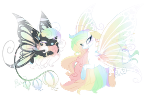 Reed #41 #42- Rainbow Sisters (CLOSED) by Piichu-Pi