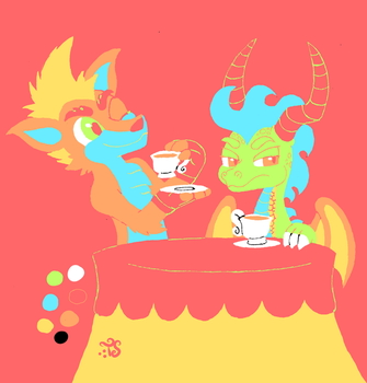 Trippy Color Pallet Tea by Toadskippers