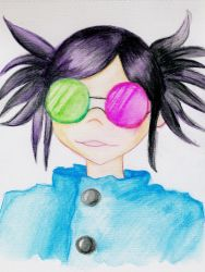 Noodle from Gorillaz by unikorn