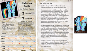 Arkham Horror Character Sheet - Rainbow Dash by DeftCrow