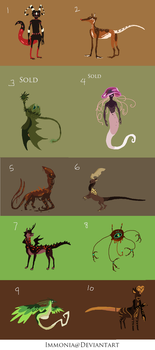 Left Over Adopts 16 [Point Option Available] by Adopt-Monstar