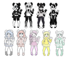 Anthro Bear Adopts -Closed- by QueenAdoptables