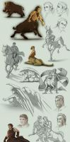 Sketch Compilation 4Q2013 by Lizkay