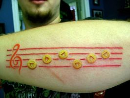 Sarias Song Original N64 tattoo by MikeFF8