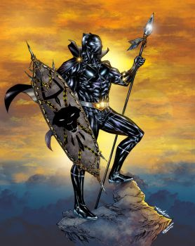 T Challa  King Of Wakanda  Black Panther colors by CrisstianoCruz