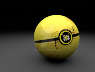 Jolteon pokeball by Sara-A2