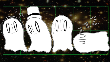 Napstablook Background by Dokizoid