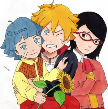 Bolt, Himawari and Sarada by IshidaYuki